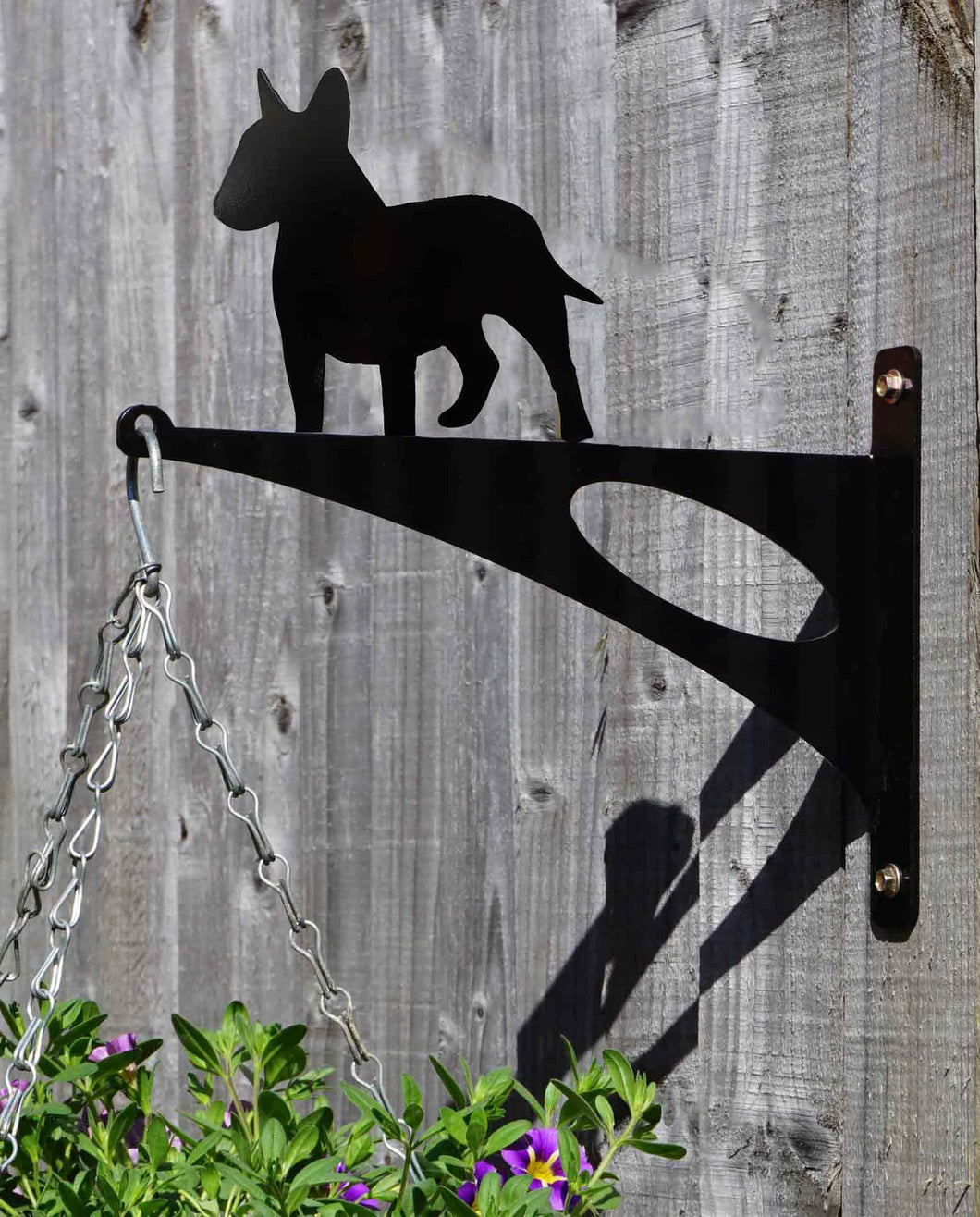 Bull Terrier Hanging Basket Bracket - Unique Metalcraft