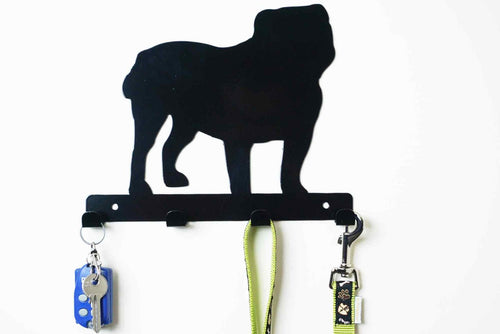 Bulldog  - Dog Lead / Key Holder, Hanger, Hook - Unique Metalcraft