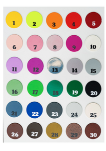Unique Metalcraft Colour Chart of available colours