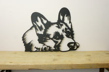 Load image into Gallery viewer, Corgi Dog Head Dog Wall Art / Garden Art - Unique Metalcraft
