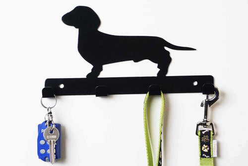 Dachshund - Dog Lead / Key Holder, Hanger, Hook - Unique Metalcraft