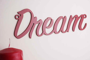 'Dream' sign Home wall art - Unique Metalcraft