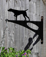Load image into Gallery viewer, German Short Haired Pointer Hanging Basket Bracket