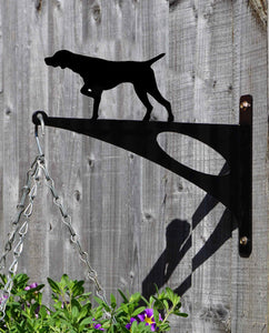 German Short Haired Pointer Hanging Basket Bracket - Unique Metalcraft