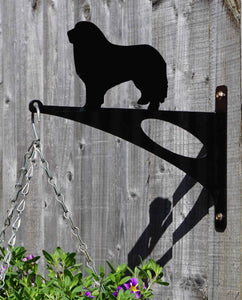 Great Pyrenees Mountain Dog Hanging Basket Bracket