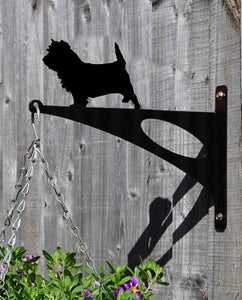 Cairn Terrier Hanging Basket Bracket