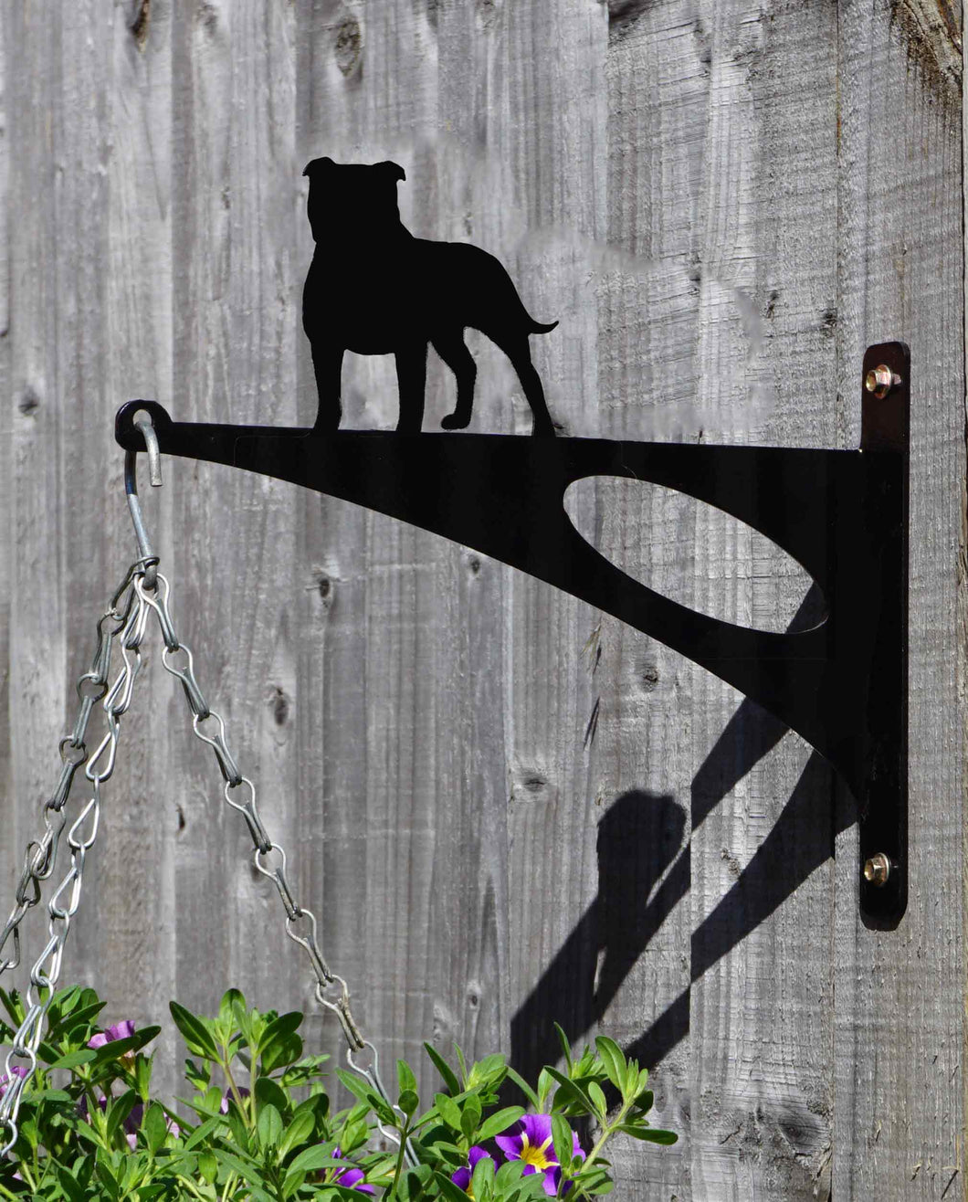 Staffordshire Bull Terrier Hanging Basket Bracket