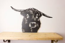 Load image into Gallery viewer, Highland Cow Animal Wall Art / Garden Sculptures - Unique Metalcraft