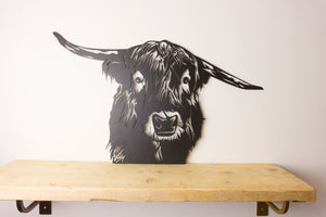 Highland Cow Animal Wall Art / Garden Sculptures - Unique Metalcraft