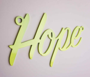 'Hope' sign Home wall art
