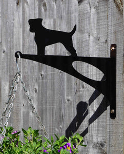 Jack Russell Hanging Basket Bracket - Unique Metalcraft