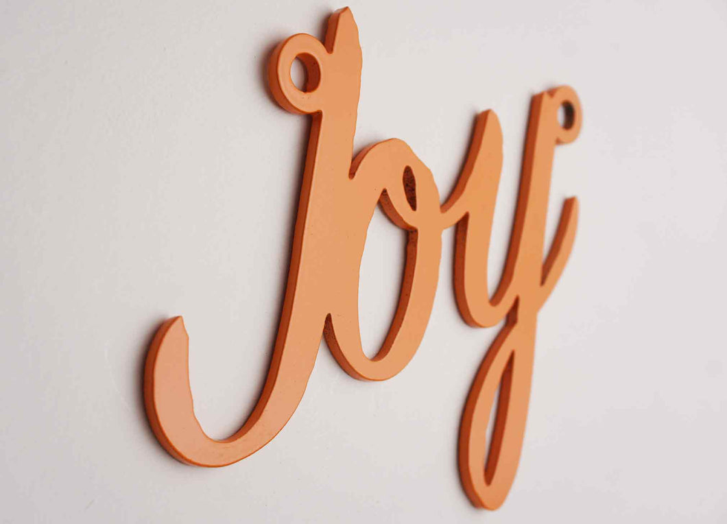 'Joy' sign Home wall art