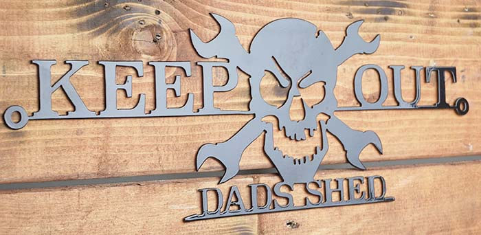 'Keep Out Dads Shed' sign Home wall art