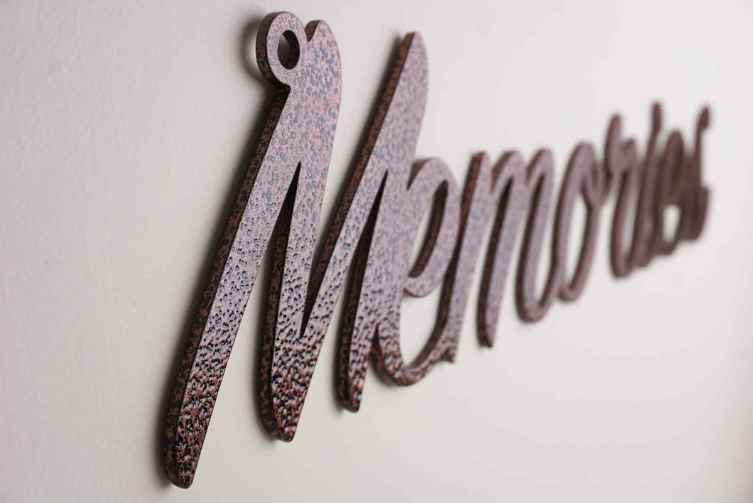 'Memories' sign Home wall art