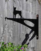 Load image into Gallery viewer, Miniature Pinscher Hanging Basket Bracket