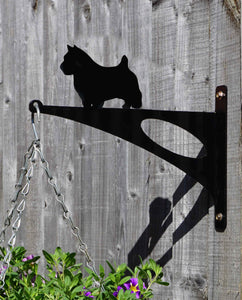 Norwich Terrier Hanging Basket Bracket