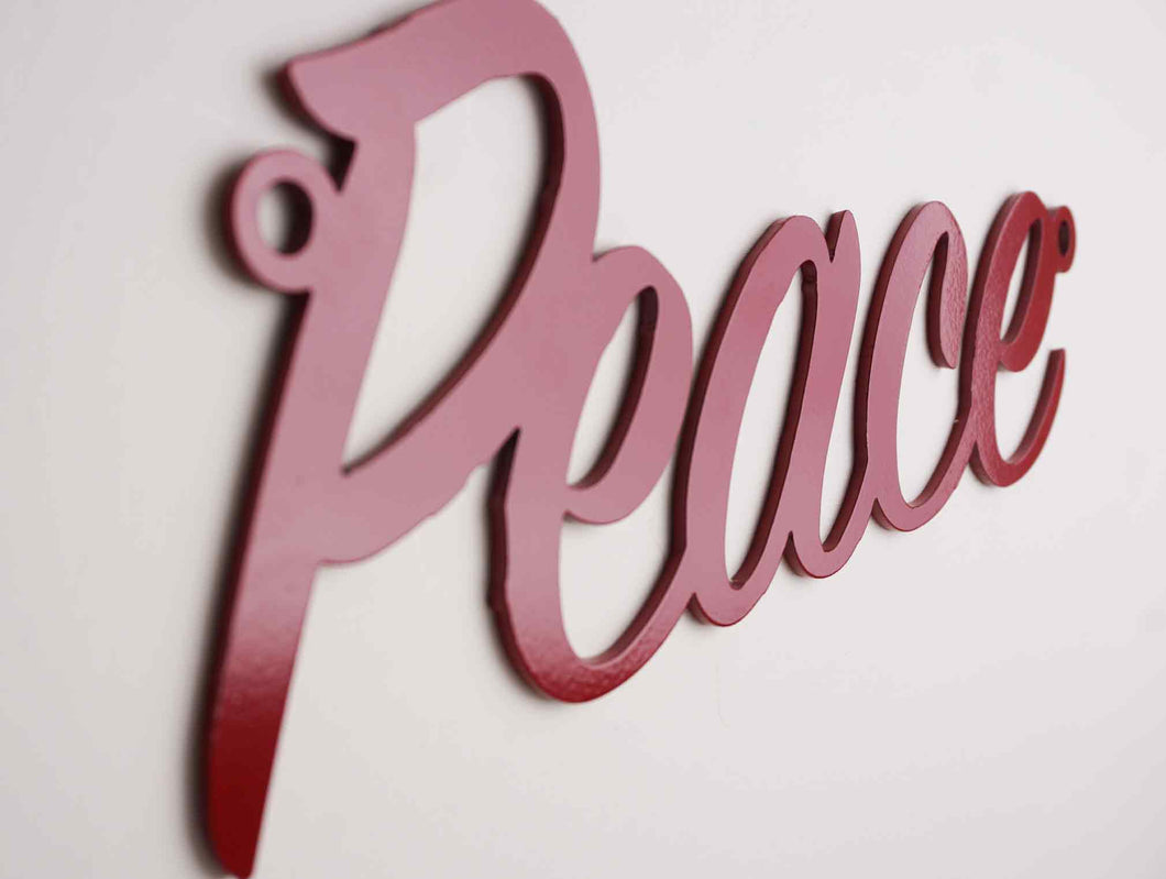 'Peace' sign Home wall art - Unique Metalcraft