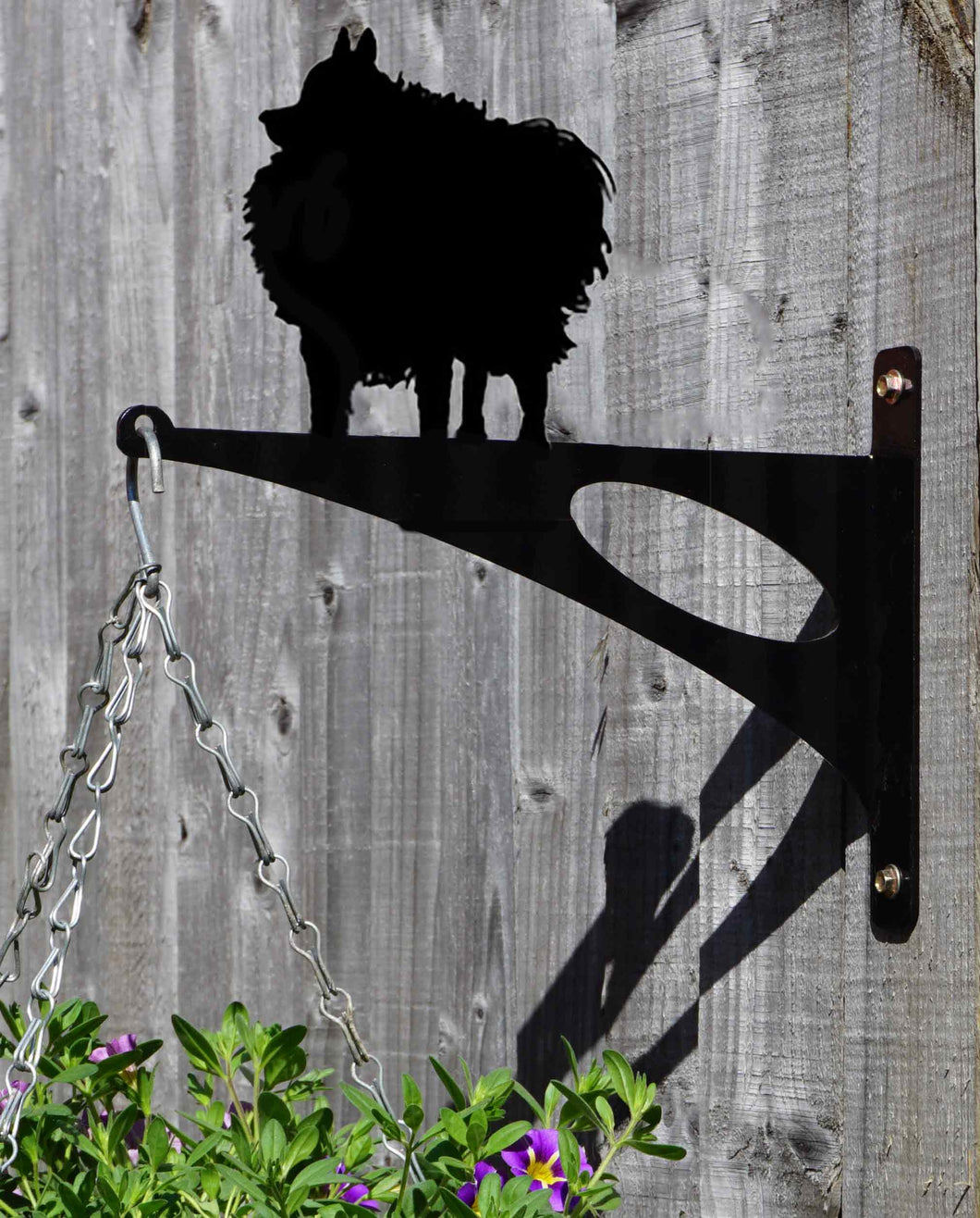Pomeranian Hanging Basket Bracket