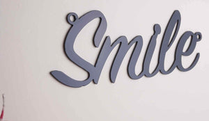 'Smile' sign Home wall art