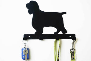 Springer Spaniel - Dog Lead / Key Holder, Hanger, Hook - Unique Metalcraft