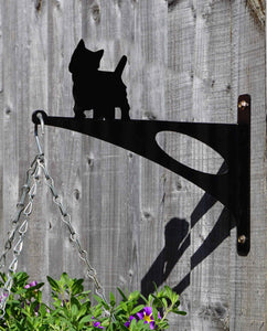 West Highland Terrier Hanging Basket Bracket - Unique Metalcraft