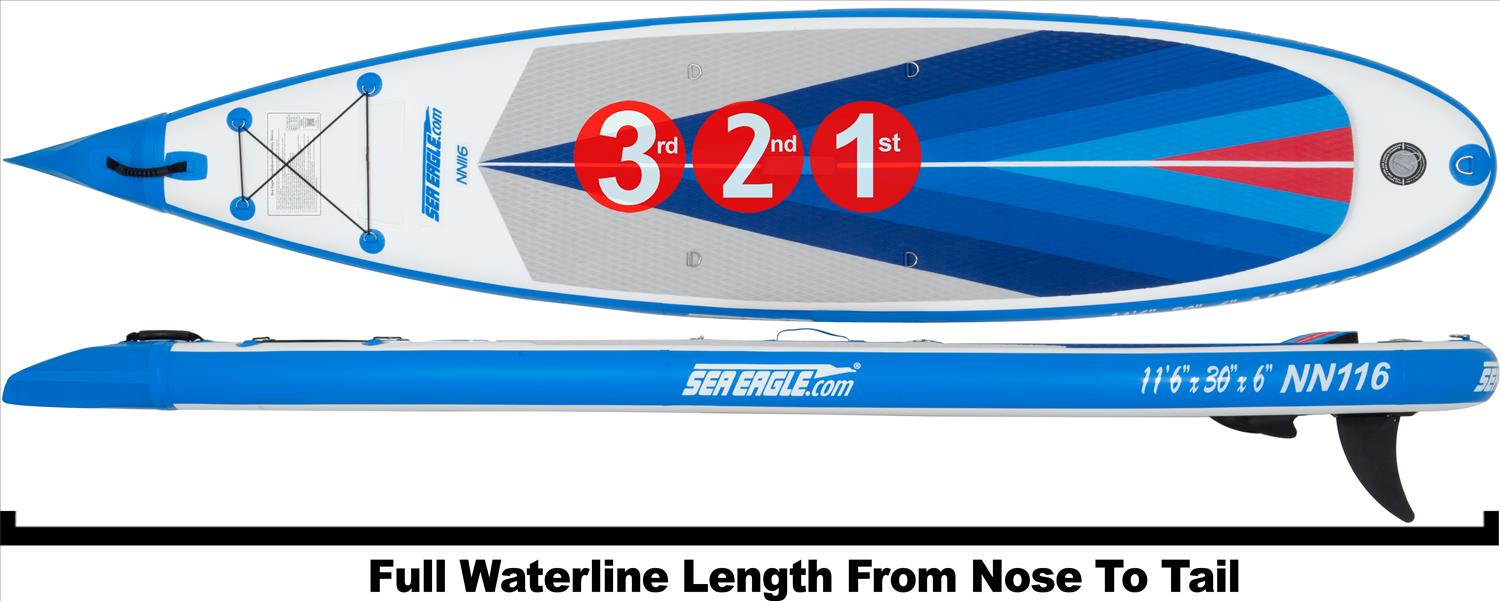 needlnose 116 sea eagle inflatable SUP board