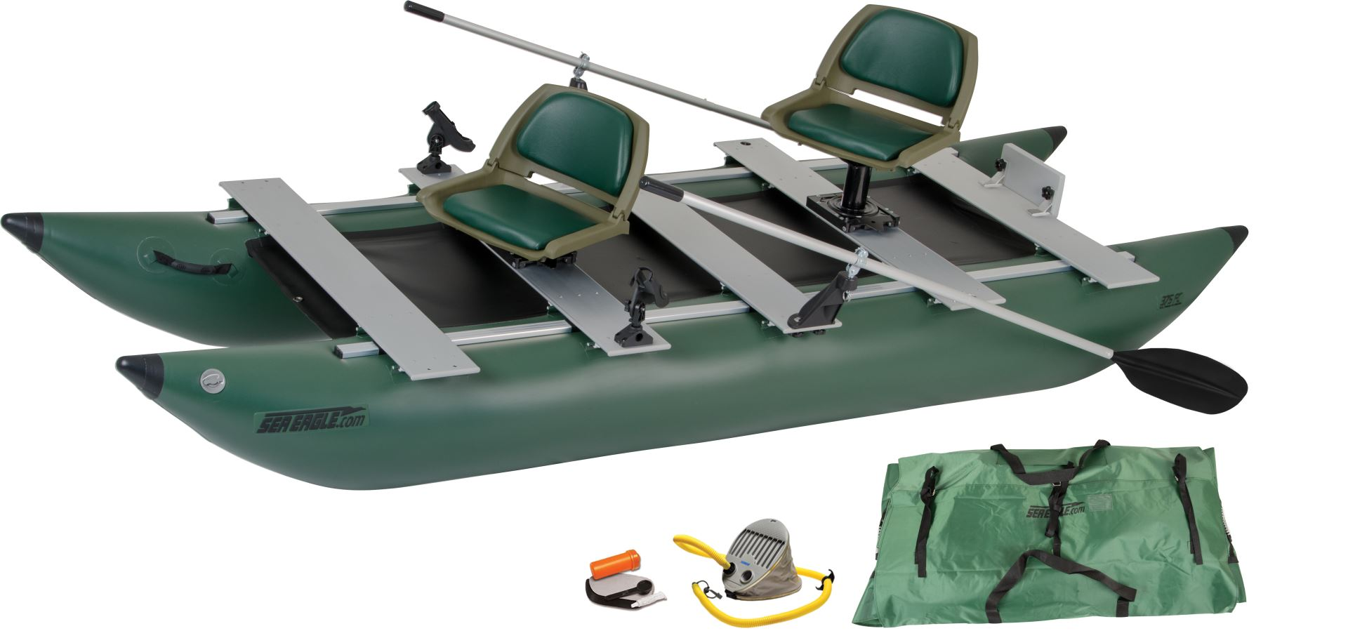 deluxe foldcat inflatable fishing boat sea eagle