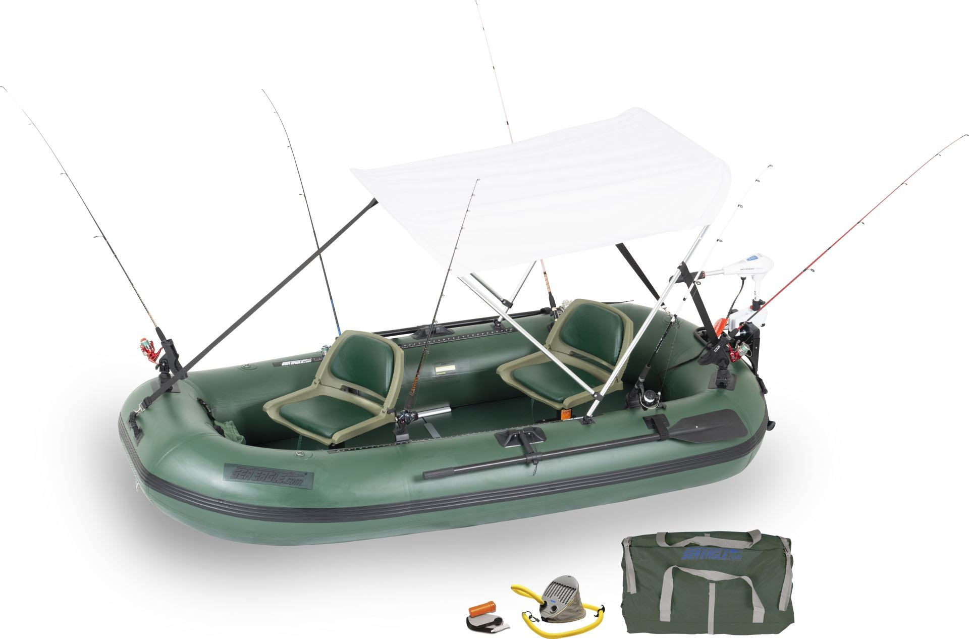 watersnake motor canopy stealth 10 fishing boat sea eagle inflatable