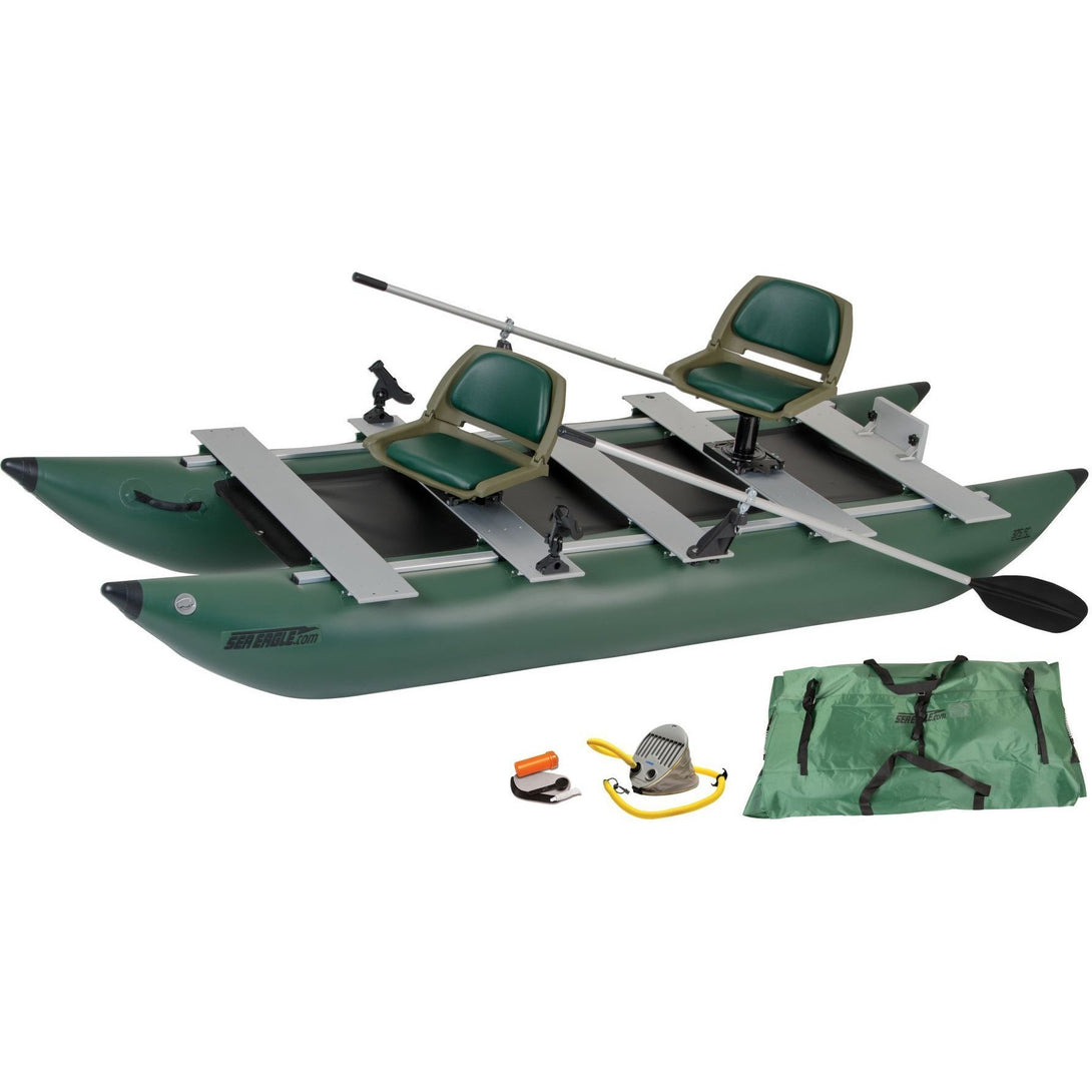 Fishing Boat - SeaEagle 375fc FoldCat Inflatable Pontoon Fishing Boat