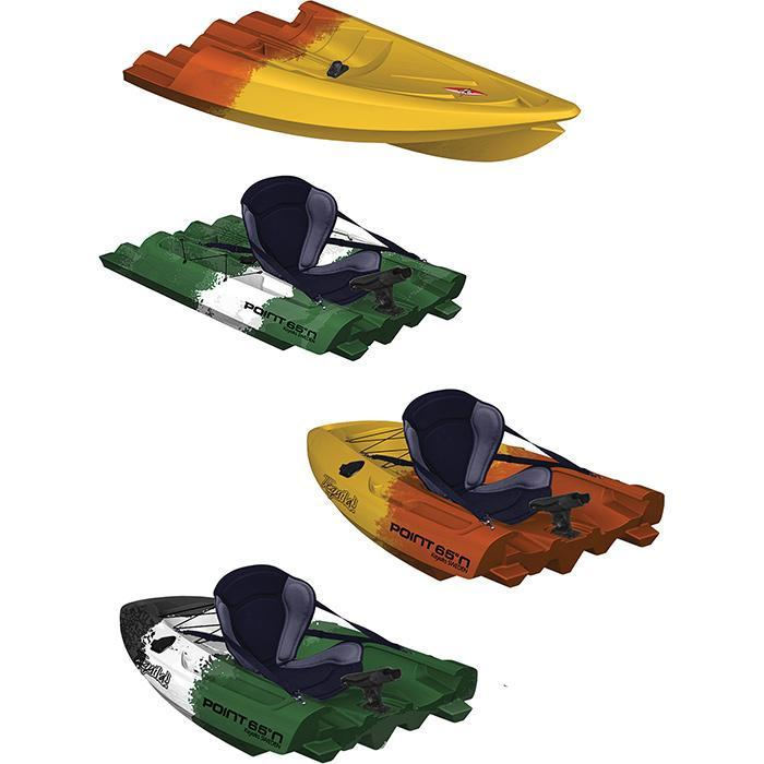 Fishing Kayak - Point65 Tequila! GTX Angler Modular Kayak Sections