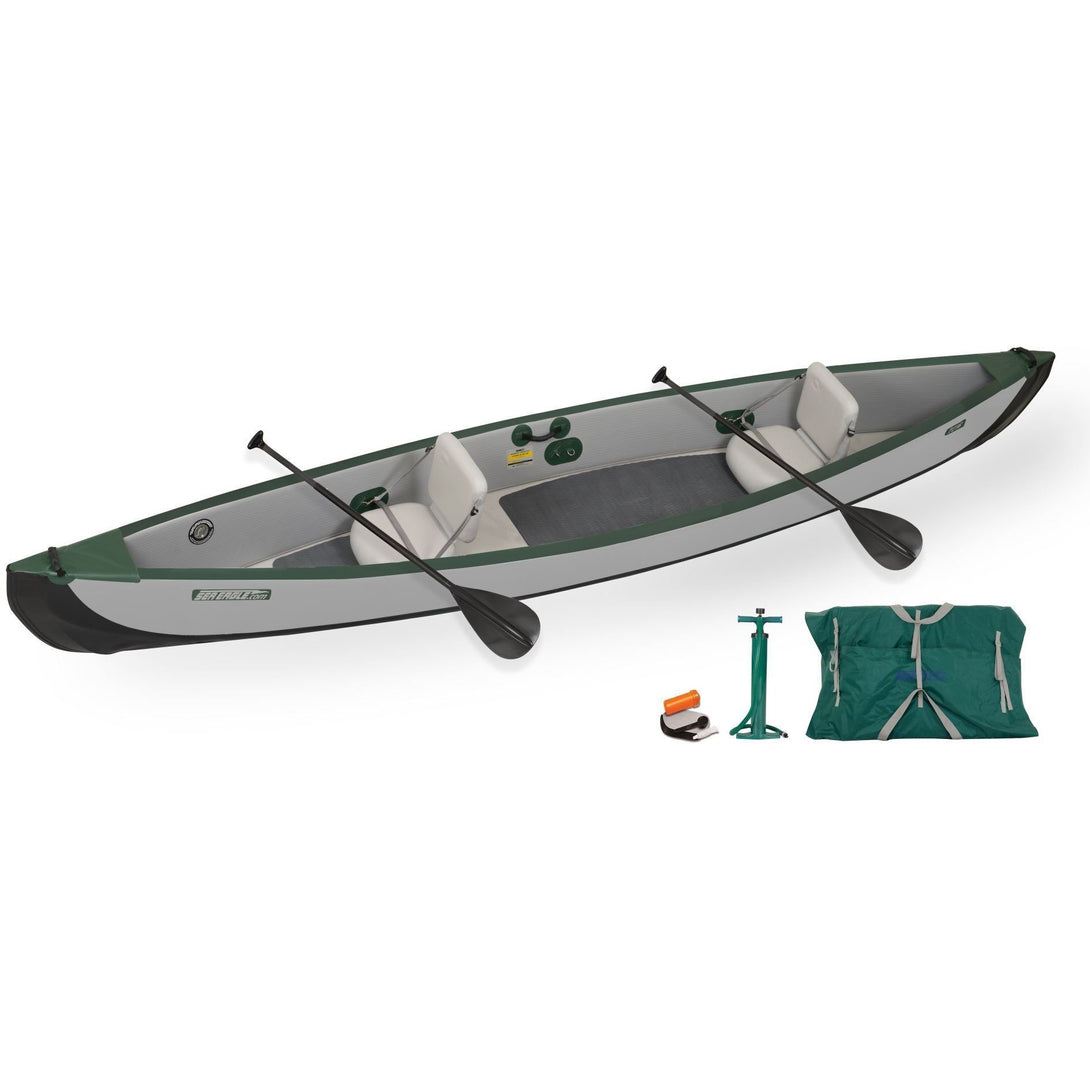 Inflatable Canoe - SeaEagle Inflatable Travel Canoe 16