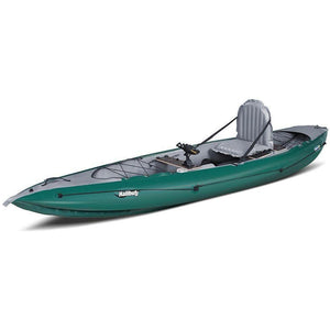 Inflatable Kayak - Halibut Inflatable Fishing Kayak By Innova Foot Pump & Paddle Bundle