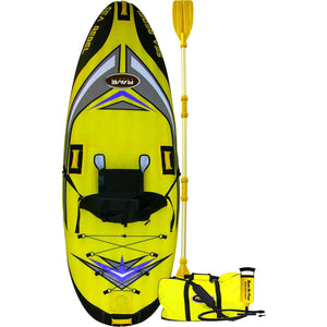 Inflatable Kayak - RaveSports Sea Rebel Inflatable 1 Person Kayak Bundle