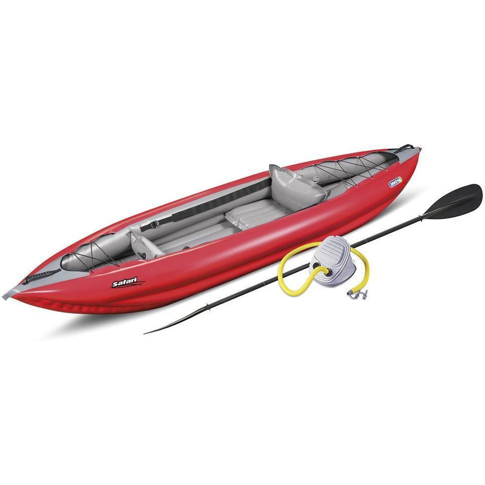 Inflatable Kayak - Safari 330 Inflatable 1 Person Kayak By Innova Foot Pump & Paddle Bundle