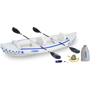 Inflatable Kayak - SeaEagle 370 Inflatable Sport 2 Person Kayak