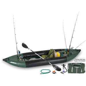 Inflatable Kayak - SeaEagle Explorer 350fx Inflatable Portable Fishing Kayak