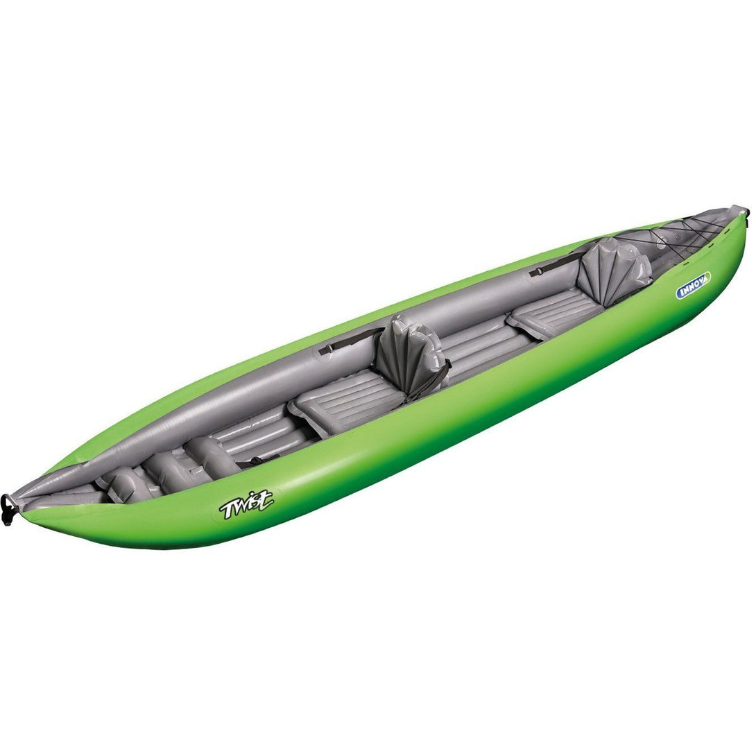 Inflatable Kayak - Twist N 2 Person Green Inflatable Kayak By Innova TWT2-0017-GRN
