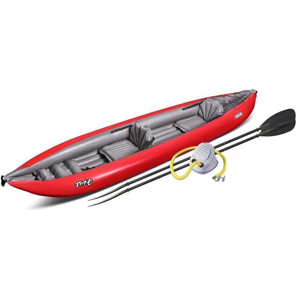 Inflatable Kayak - Twist N 2 Person Inflatable Kayak By Innova Foot Pump & Paddle Bundle