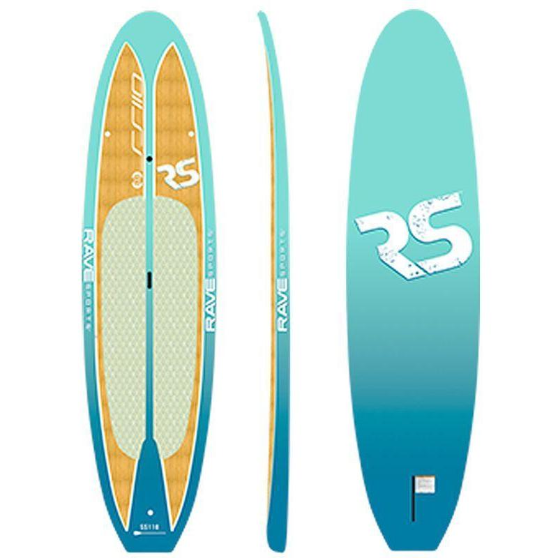 SUP Boards - RaveSports Shoreline SUP Stand Up Paddle Board - Caribbean Blue
