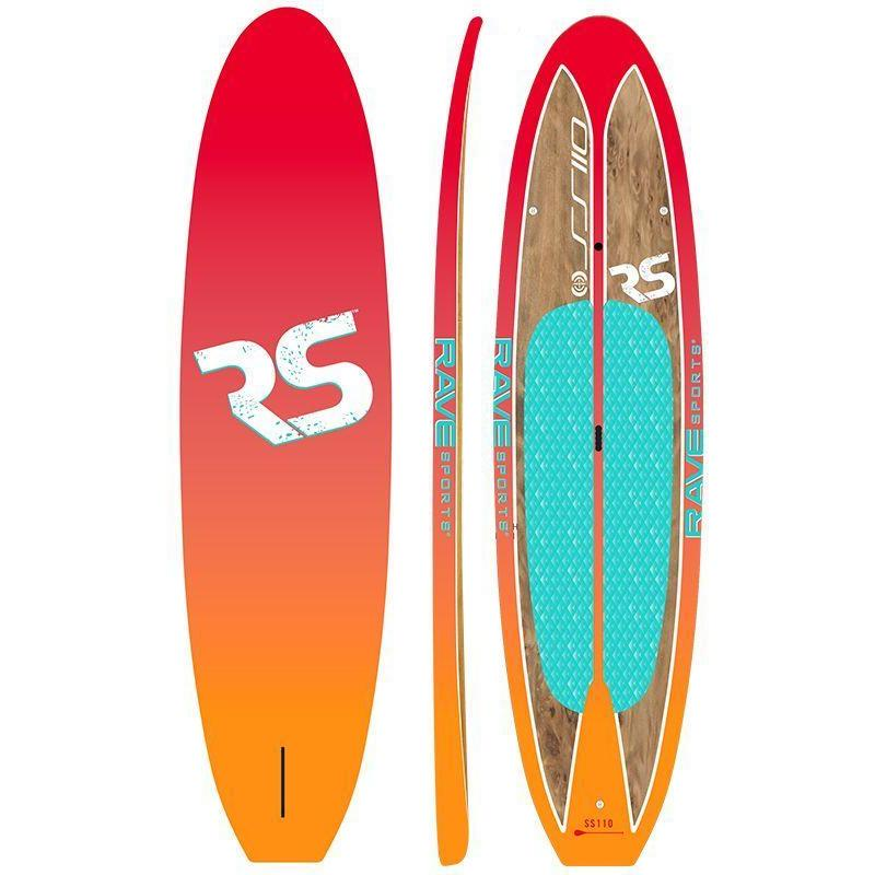 SUP Boards - RaveSports Shoreline SUP Stand Up Paddle Board - Sunburst Orange