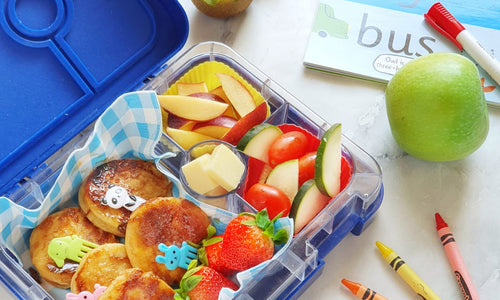 French Toast with Banana filling- 4 Compartment Lunchbox