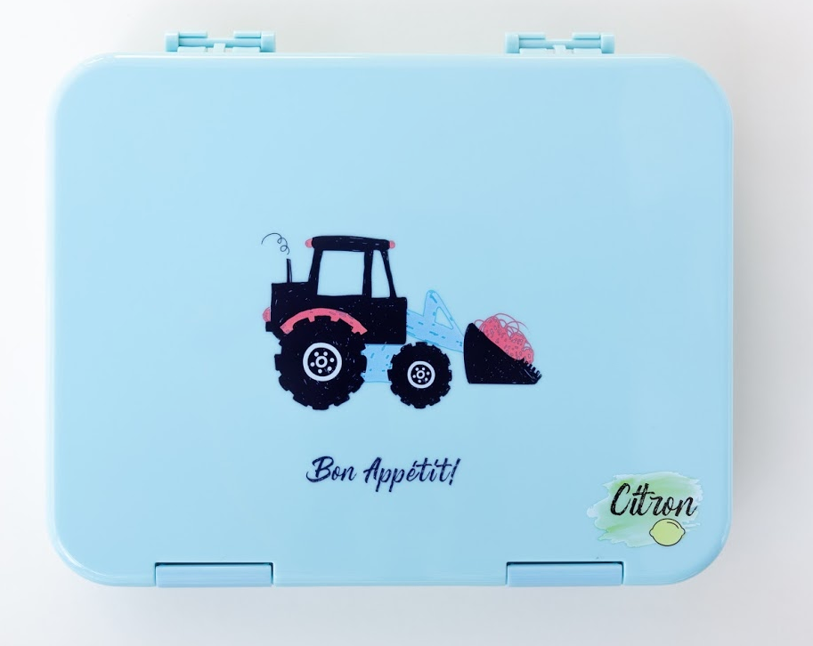 Citron Tractor lunch box