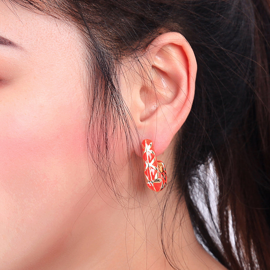 Alloy Enamel Plated Earrings