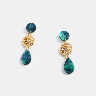 Gold Plated Acetate Drop Earrings