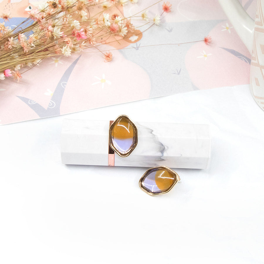 Elegant Resin Stud Earrings