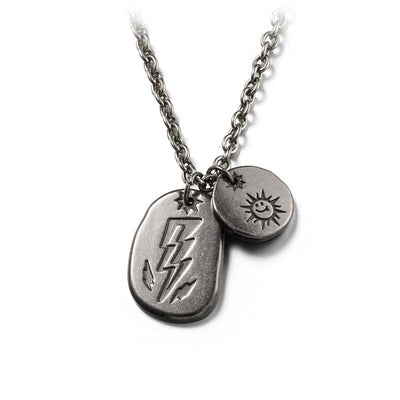 Sun and Lightning Hip Hop Titanium Steel Pendant