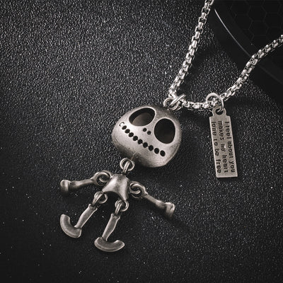 Funny ET Hip Hop Titanium Steel Pendant Necklace