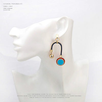 Gold Plated Resin Drop Earrings