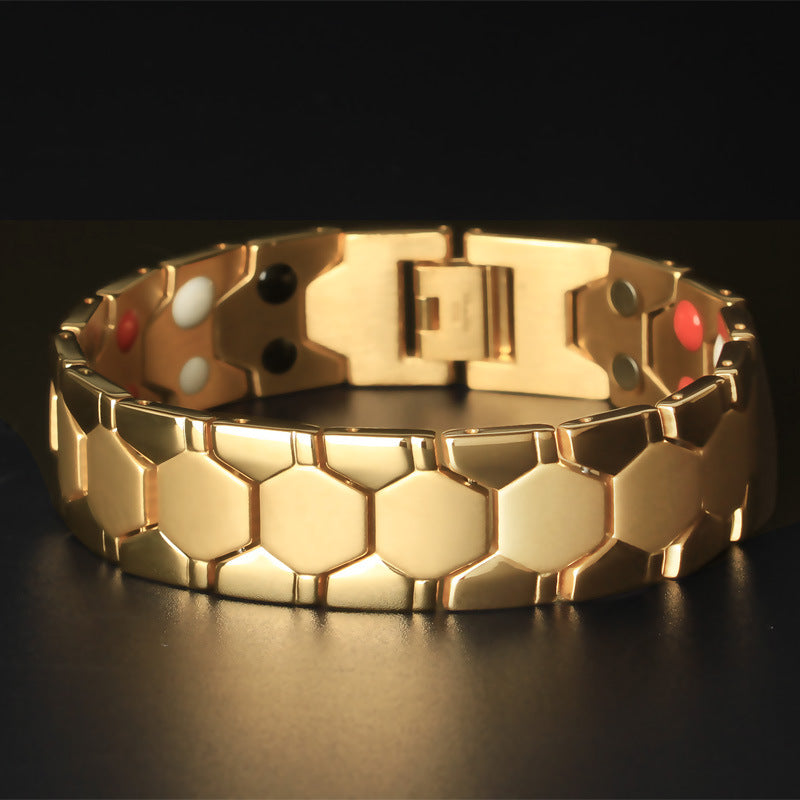 Mens Titanium Magnetic Therapy Bracelet