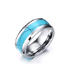 Personalized High Polished Tungsten Carbide Rings with Turquoise